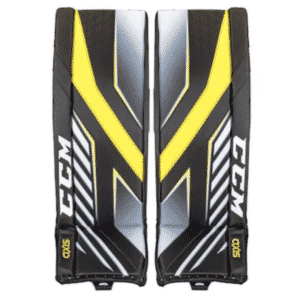 Picture of CCM Axis Pro goalie pads.